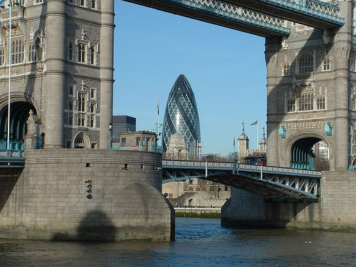 Tower Bridge et 30 St Mary Axe