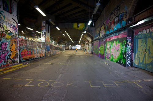 The Banksy tunnel