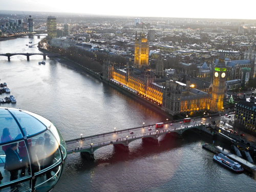 London eye et Westminster