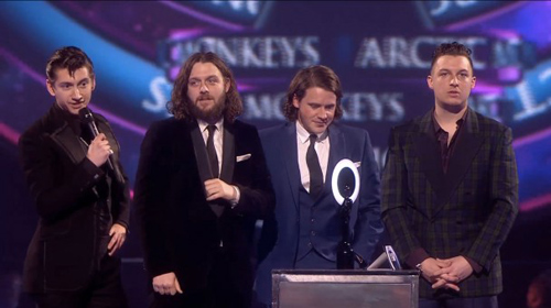 Le groupe britannique Arctic Monkeys