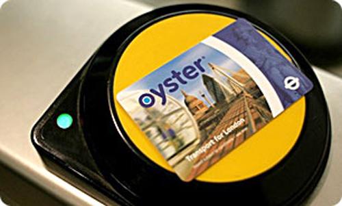 Scan de la carte Oyster