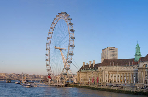 Le London Eye et la Tamise