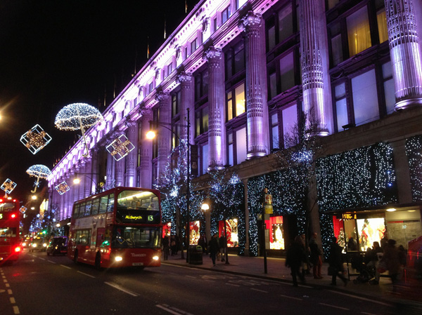 Oxford street noel a londres