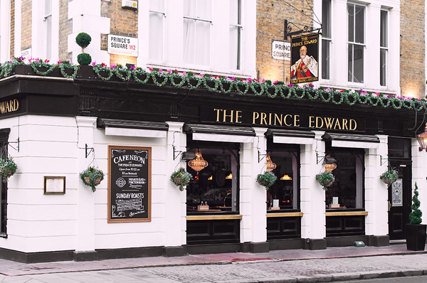 restaurant londres prince edward