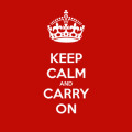 origine keep calm and carry on
