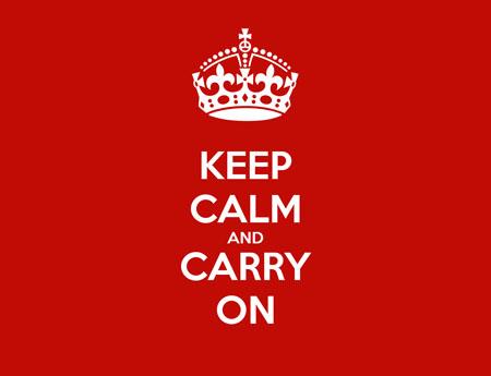 origine keep calm and carry on