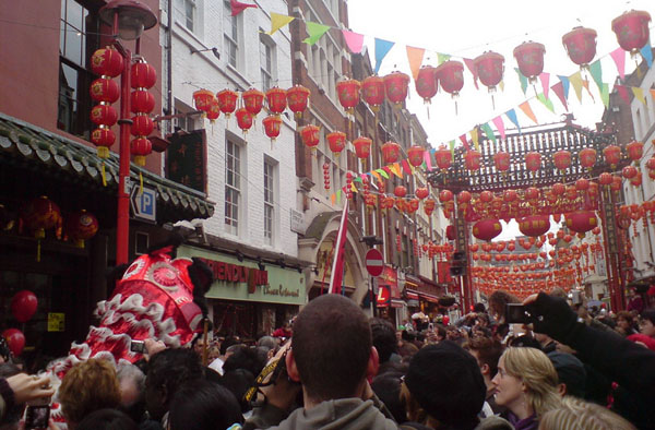 chinatown pendant le nouvel an chinois