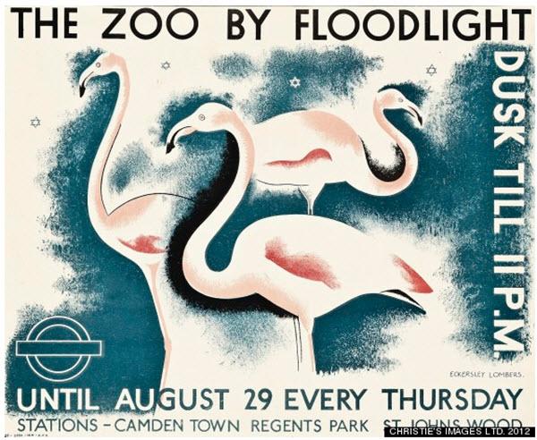 affiche publicitaires zoo londres