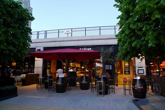 bar quartier Canary Wharf
