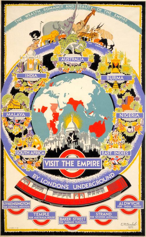 visiter londres poster vintage