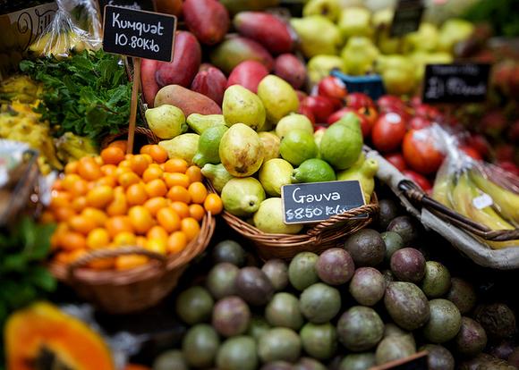 fruits legumes marche
